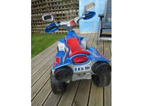 6v electric quad for kids , good condition .