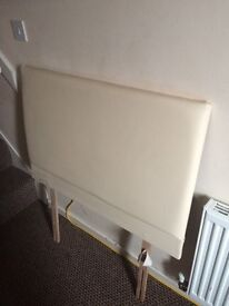Cream leatherette headboard