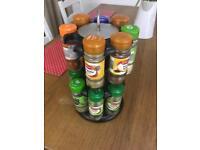 16-Jar Free Standing Turning Spice Rack