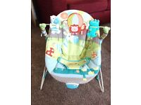 Bright Starts vibrating bouncy chair.