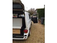 VW Transporter T4 1.9td. Surf/day van, rock and roll style bed, custom roof rack.