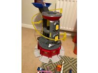 Paw Patrol lookout tower and vehicles/figures