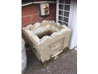 HEAVY VINTAGE STONE PLANTER / POT