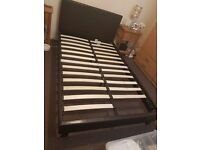 Faux leather small double bed and memory foam mattress