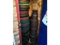 Olympic weights plates from 1.25kg up to 25kg 1£ per kilo