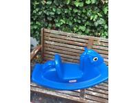 Little tykes blue seesaw rocking horse
