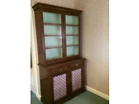 Mahogany bookcase / display cabinet- Antique late 19th century
