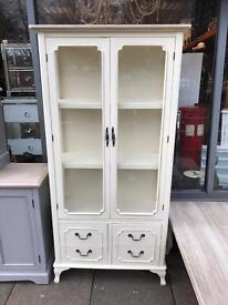 Shabby Chic French Style Glass Display Unit / Cupboard