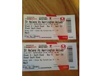2 x St Helens tickets