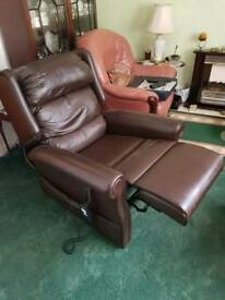 Elderly leather rise chair