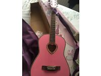 Candy Rock Acoustic Girls Pink Guitar