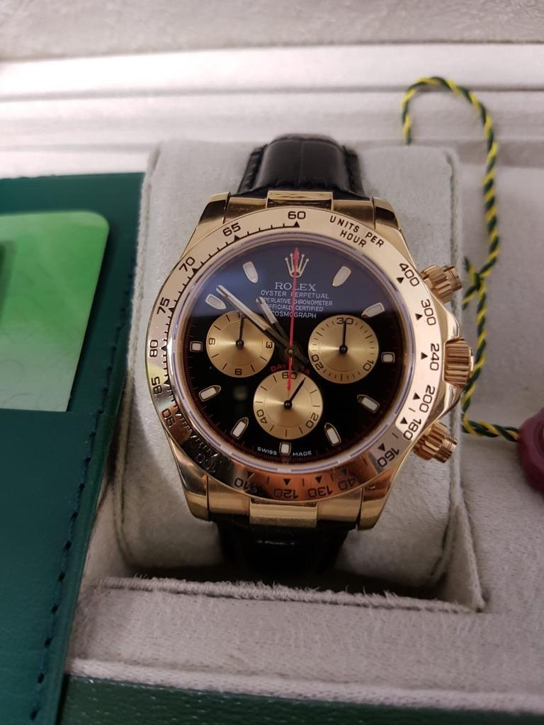Gold Leather Strap Rolex Daytona In Cardiff City Centre Cardiff