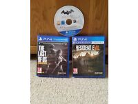3 Top PS4 Games...The Last of Us, Resident Evil 7 and Batman Return to Arkham