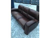 Stunning Italian Real Leather 3 Seater Sofa By Sofitalia. Excellent Condition. Can Deliver.