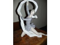 a large size ballerina ribbon nao porcelaine spain ,15inches aapprx
