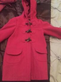 Pink girls coat age 4-5