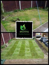 Browns Garden Services. Nottingam based Gardener pressure washing