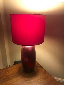 Pink fushia table lamp from next