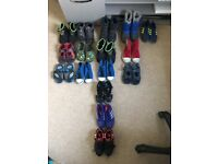 Huge Bundle of boys shoes ranging from size 11-2