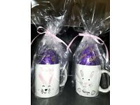 Personalised Easter Cups with chochlate Egg & Gift Wrap