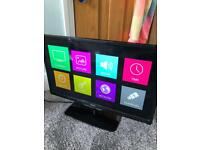LED tv/dvd combi