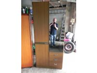 Single wardrobe with drawers and shelf