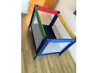 Colour Block Travel Cot Child Play Bed