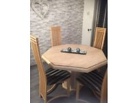 Italian Marble Table And 4 Dining Chairs