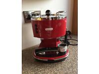 De'Longhi Red Coffee Machine