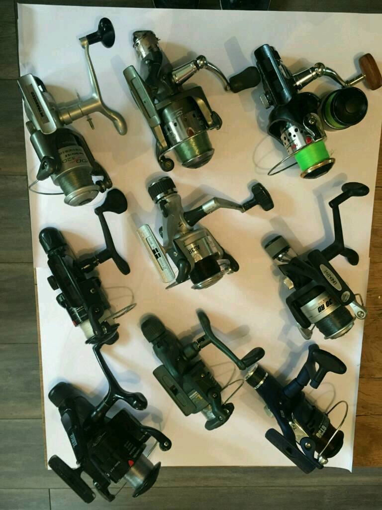 Selection of fishing reels. All.workin Rugeley, StaffordshireGumtree - 9 x fishing reels all work perfectly and one has spare spool. 65.00 for all 9. Great offer