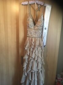 Prom dress for sale - champaign colour