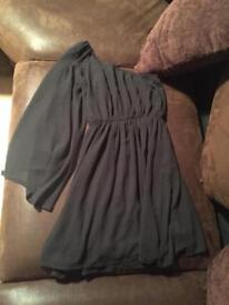 Black one sleeved dress new look size 8