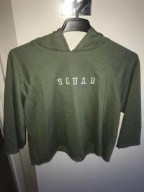 New look khaki hoodie