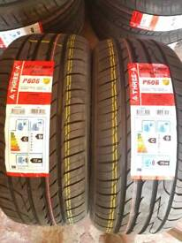 2X 225-45-17 THREE A BRAND NEW TYRES