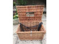 Large Vintage Wicker Fishing Basket/Storage