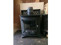 Yeoman wood burning stove.