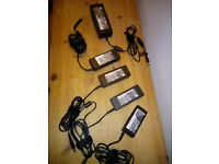job lot - HP 18.5V and 19V laptop charges - 65W / 90W / 120W - drum connector - unused