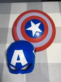 Captain America shield and mask