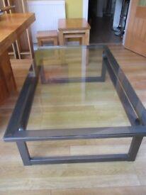 Metal & Glass Coffee Table