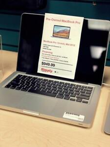 APPLE CERTIFIED - MacBook Pro For SALE - WINNIPEG