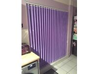 Brand new in box, Lilac Vertical Blinds for Patio Doors, 183cm x 229cm