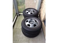 Honda CR V 2009 set of 4 wheels (not alloys) yokohama tyres 6mm tread ,225x65x17 £100 for sale