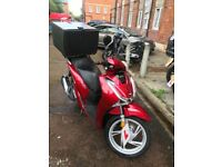 Almost new Honda sh125i for sale with very low mileage