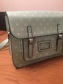 Mint green satchel
