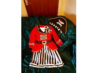 FAMCY DRESS GIRLS PIRATE COSTUME BY TU SIZE 5-6 YEARS