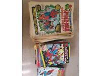 Spiderman comics collectables.