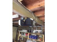 Garage door and electric opener