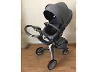 Stokke Xplory v4 pushchair, carry cot and Besafe car seat