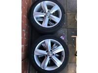 5 x Genuine VW alloy wheels. 5x112. Great Condition. Good tread