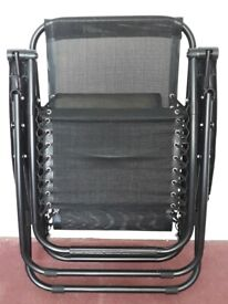 Recling Chair foldable black